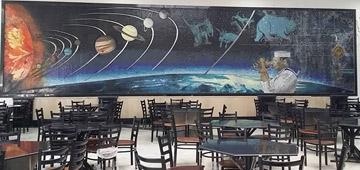 جدارية مطعم الطلبة بالكلية البحرية