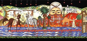 Mural work in Abu Rudeis